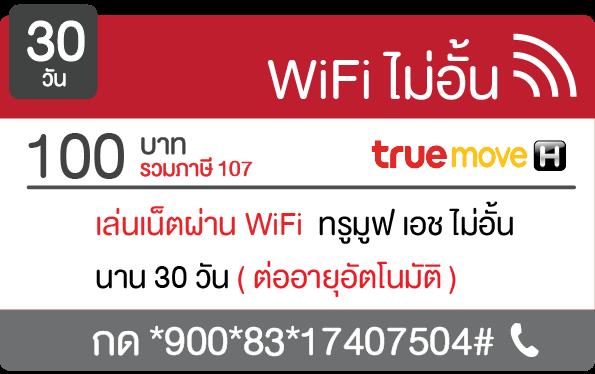 true wifi 100 บาท 30 วัน