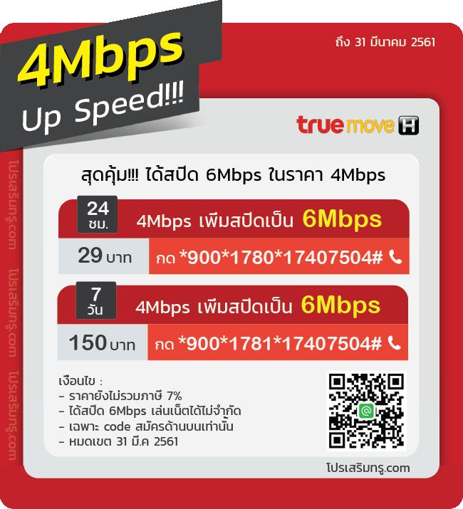 เน็ตทรู 4Mbps Up Speed